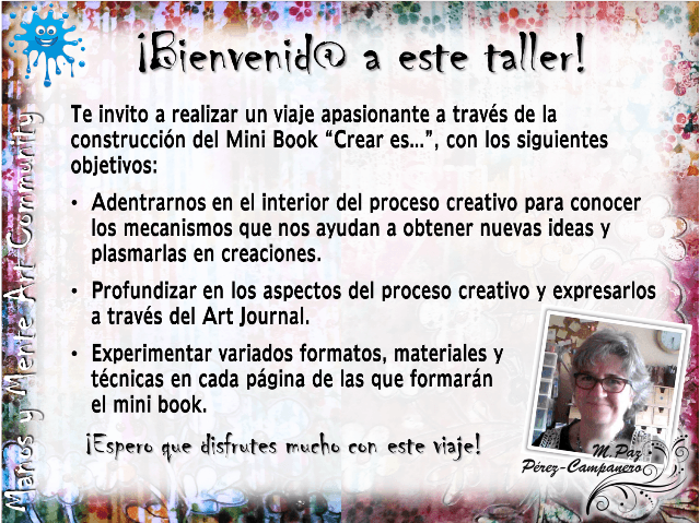 "Taller virtual gratuito Art Journal -Mini Book ""Crear es..."""